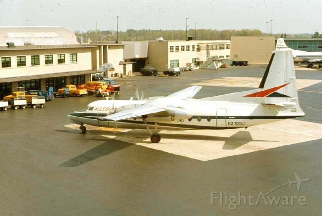 FAIRCHILD HILLER FH-227 (N2703J) - Fairchild F-27 (N2703J) at KBWI (Then known as Friendship International Airport)
