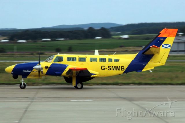 Cessna F406 Vigilant (G-SMMB) - Taxiing to the ramp on 31-Jul-20 after landing on rwy 23.