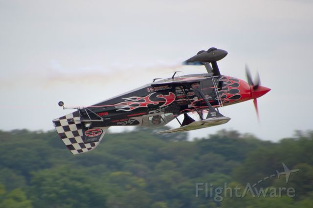 Experimental  (N540SS) - Here Skip Stewart preforms at the Central Iowa Airshow flying his N540SS 2011 Skip Stewart Pitts S-25 Photo taken August 25, 2019 with Nikon D3200 at 400mm.