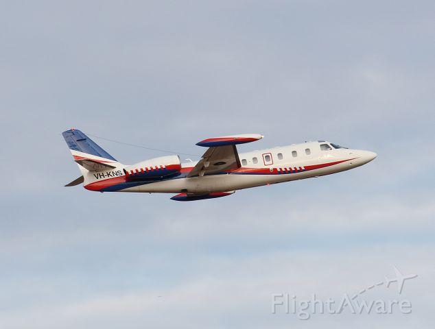 IAI 1124 Westwind (VH-KNS) - Departing Longreach for Sydney 03/06/2021