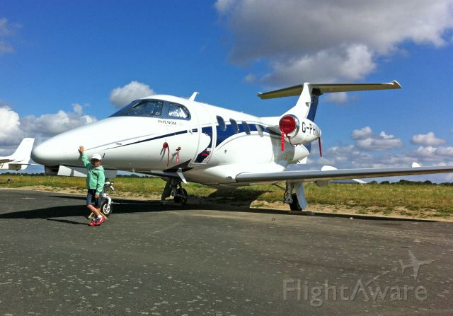 Embraer Phenom 100 (G-PHNM) - Phenom 100 en park à la Roche sur Yon (85)