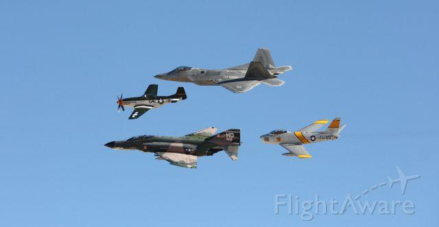 — — - Heritage flight at Aviation Nation