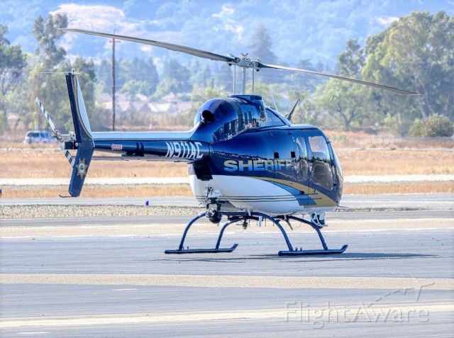 Bell 505 (N911AC) - Alameda County Sheriff Dept's Bell 505 at Livermore Municipal Airport, Livermore CA. October 2020