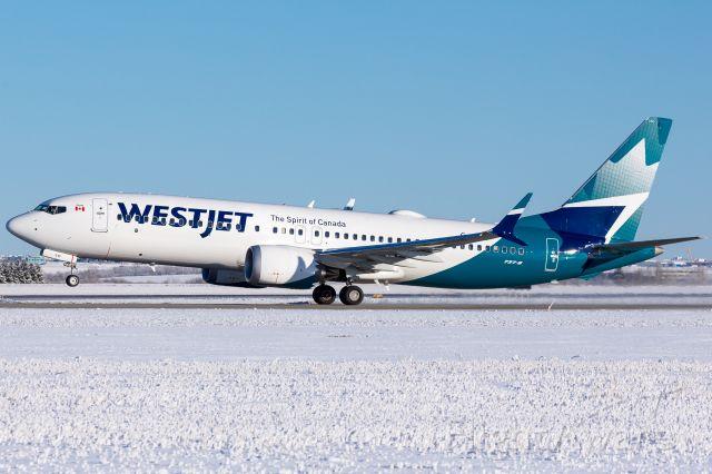 Boeing 737 MAX 8 (C-GEHF) - WJA4411 departing runway 30 bound for Calgary.