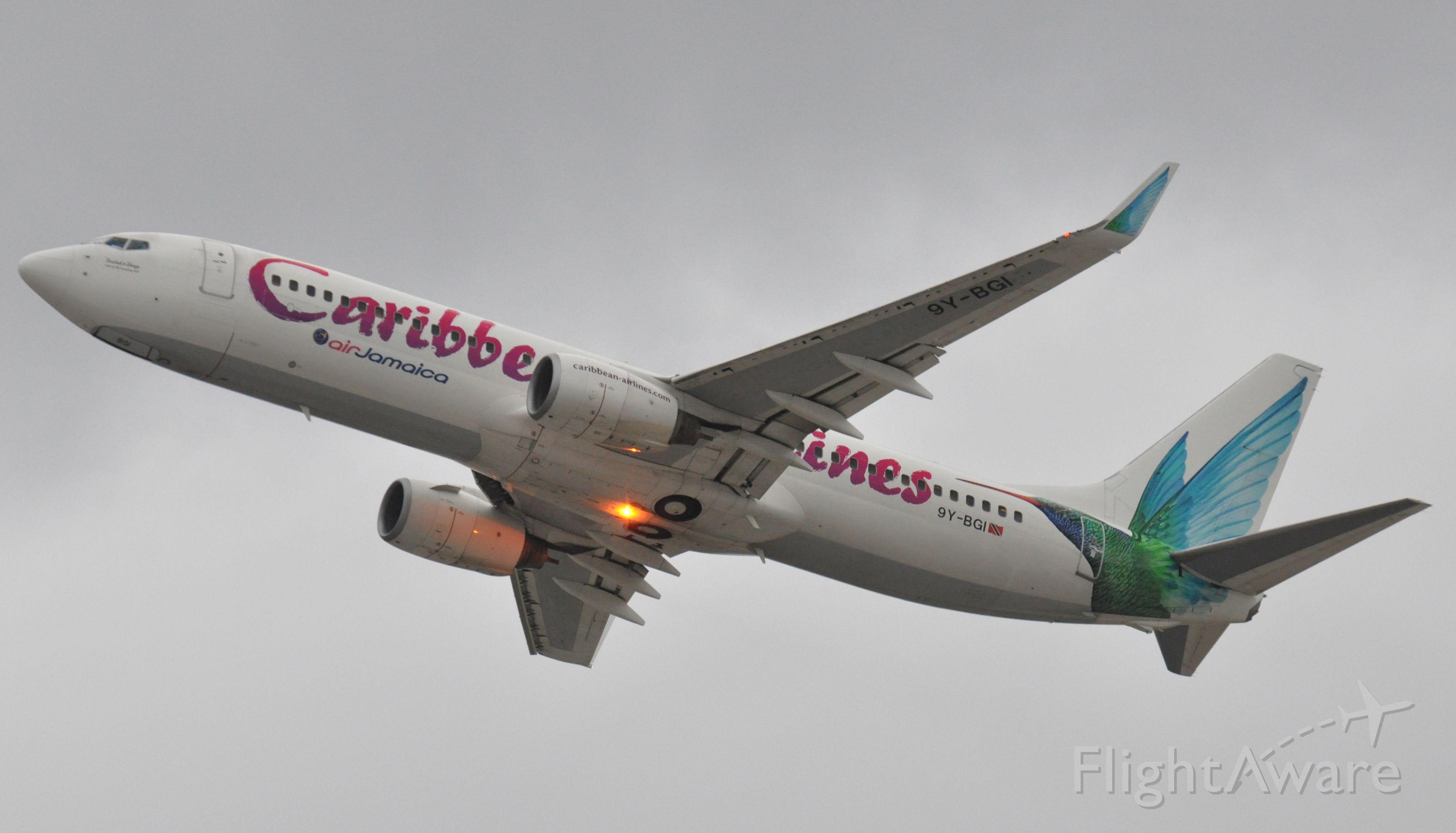 Boeing 737-700 (9Y-BGI) - Imaged on 1/11/12