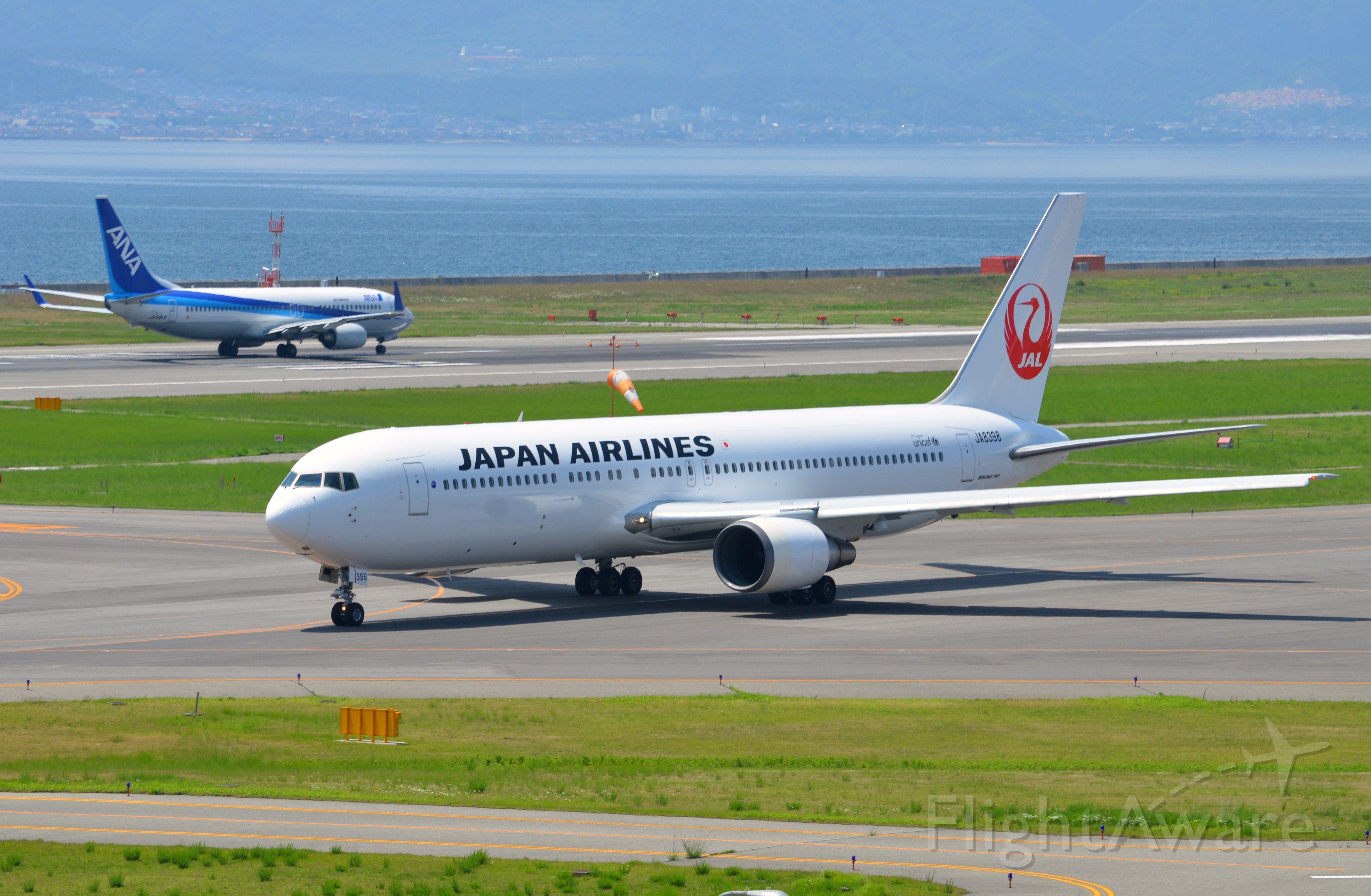 BOEING 767-300 (JA8398) - Airline: Japan Airlines (JL/JAL); Airport: Kansai International Airport (KIX/RJBB); Camera: Nikon D7000; Date: 4 July 2012