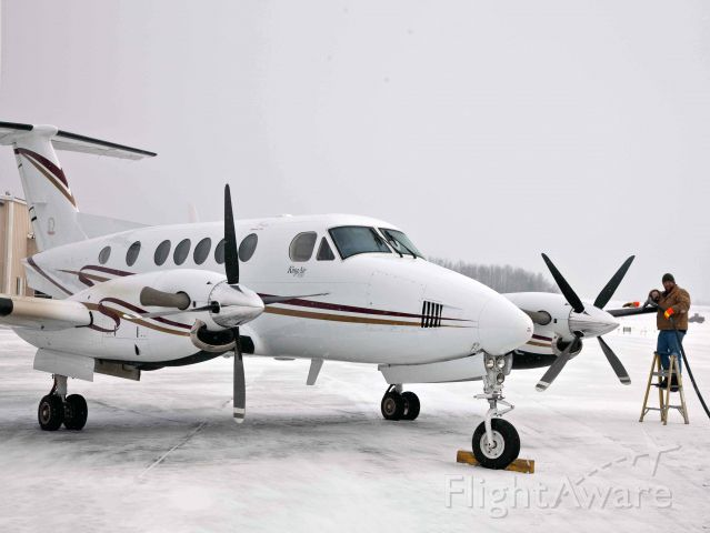 Beechcraft Premier 1 (N351CB) - Friendly service at FZY.