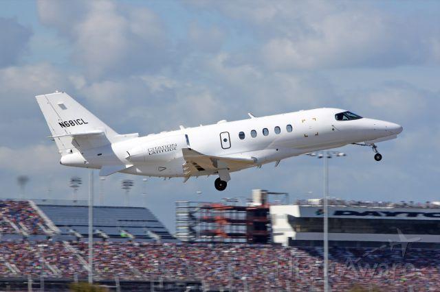 Cessna Citation Sovereign (N681CL) - A Cessna Citation Latitude taking-off from Daytona Beach International Airport.