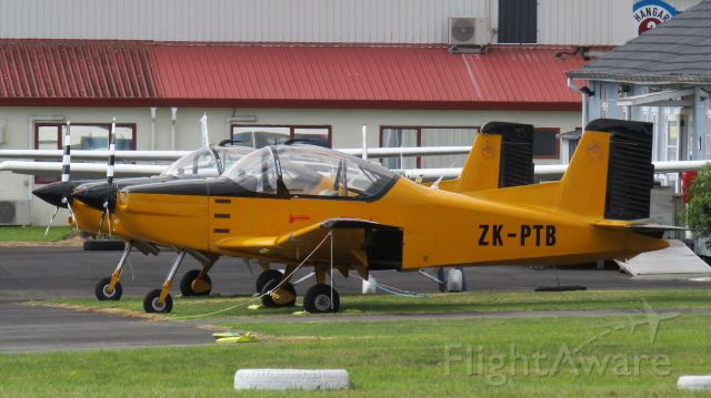 PACIFIC AEROSPACE CT-4 Airtrainer (ZK-PTB) - At the aircraft sales building.