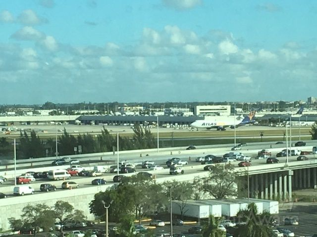 Boeing 747-400 (EGN123AB) - Looking out at MIA