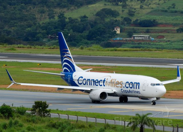 Boeing 737-800 (HP1849CMP) - Rare visitor at CNF Airport.