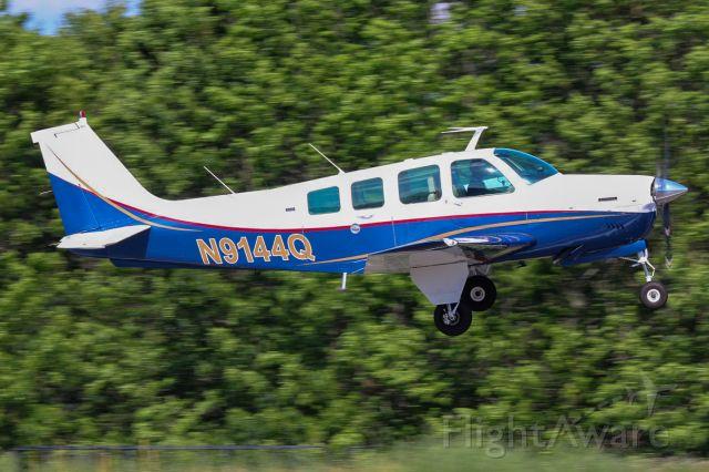 Beechcraft Bonanza (36) (N9144Q) - Powerful takeoff in the Bonanza!