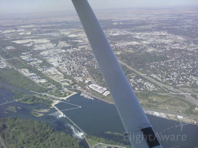 Cessna Skyhawk (N872FA) - Passing the city of Joliet, IL to the east.