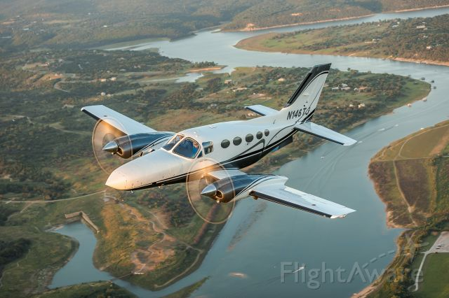 Cessna 421 (N146TJ) - Lake Travis