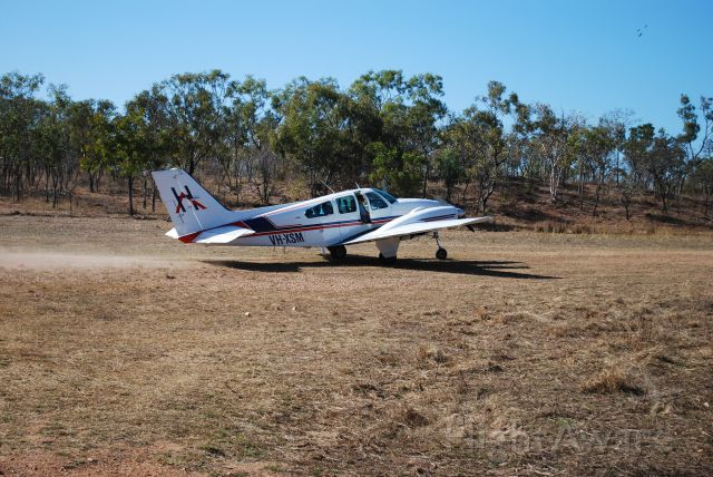 Beechcraft 55 Baron (VH-XSM) - Take off from Mt Bundy Station, Adelaide River, NT
