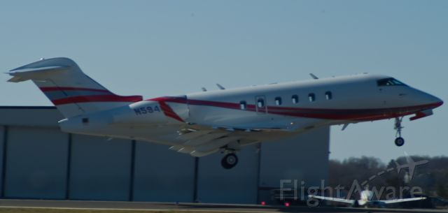 N594CA — - Departing on rnwy 36