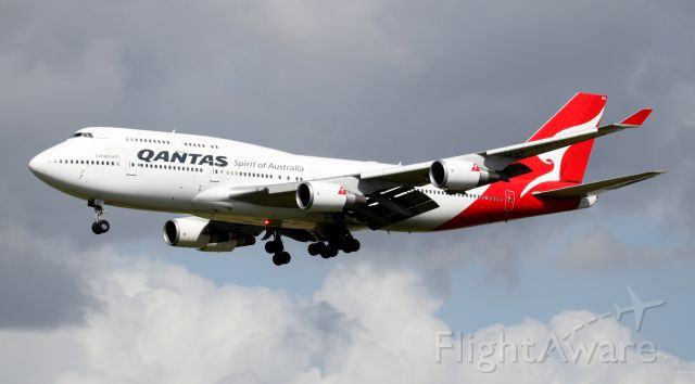 """Boeing 747-400 (VH-OEH) - """"Hervey Bay"""" Short Final To 16R"""