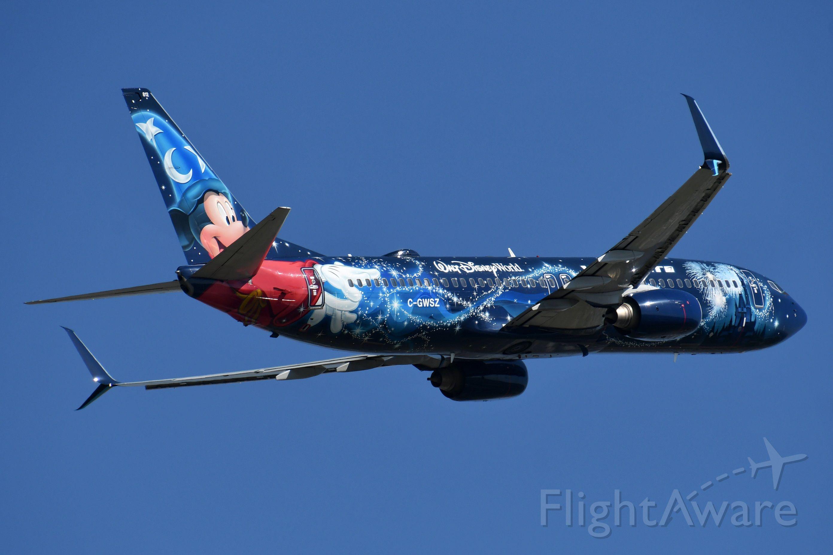 Boeing 737-800 (C-GWSZ) - Mickey departing YYC on May 27.