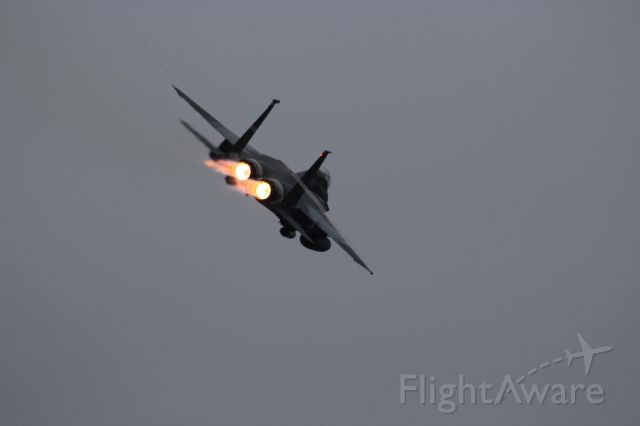 McDonnell Douglas F-15 Eagle (AFR87205) - Burner departure at Green Bay !!