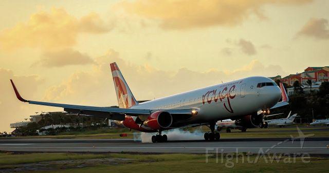 C-FIYE — - Air Canada landing at TNCM at sunset!!!