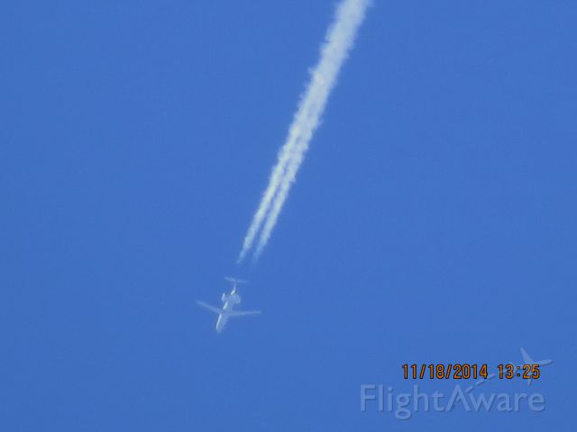 Embraer ERJ-145 (N838HK) - Trans States Airlines flight 5275 from ORD to OKC over Southeastern Kansas at 36,000 feet.