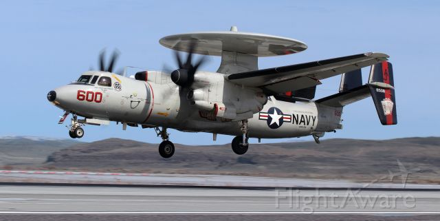 """Grumman E-2 Hawkeye (16-6508) - United States Navy Grumman E-2C Hawkeye (166508)<br />VAW 124 (Airborne Command and Control Squadron One Two Four) """"Bear Aces""""<br />Current Home Port: NAS Norfolk, VA<br />Assigned to the USS Gerald R. Ford (CVN 78) .... Carrier Air Wing Eight (CVW 8)<br /><br />Navy Cdr Jonathan """"Blamo"""" Faraco brings the VAW-124 """"Bear Aces"""" CAG Hawkeye colorbird back to land on KNFL's Runway 31L after participating in a combat training sortie."""