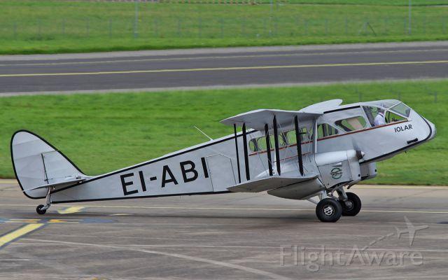 DE HAVILLAND DH-84 Dragon (EI-ABI) - de havilland dh-84 dragon iolar ei-abi arriving in shannon this afternoon 19/9/15.