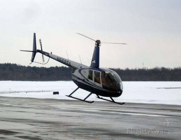 N668SA — - A R44 taking off.