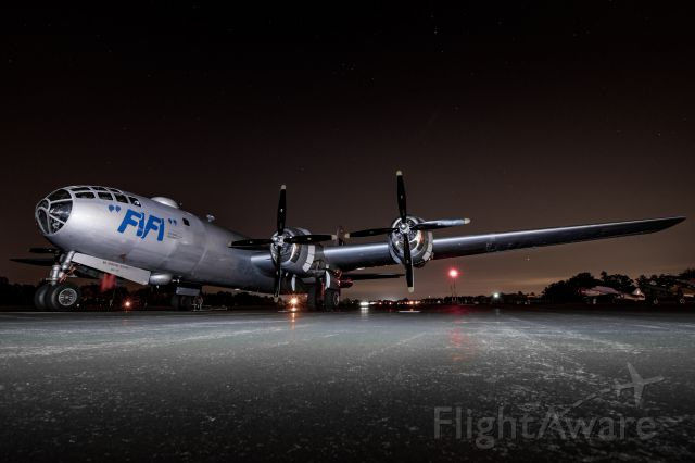 Boeing B-29 Superfortress (N529B) - Commemorative Air Force B-29 resting before a long weekend of flying.