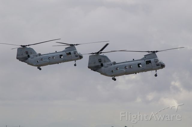 — — - Pair of Chinooks looking for the LZ
