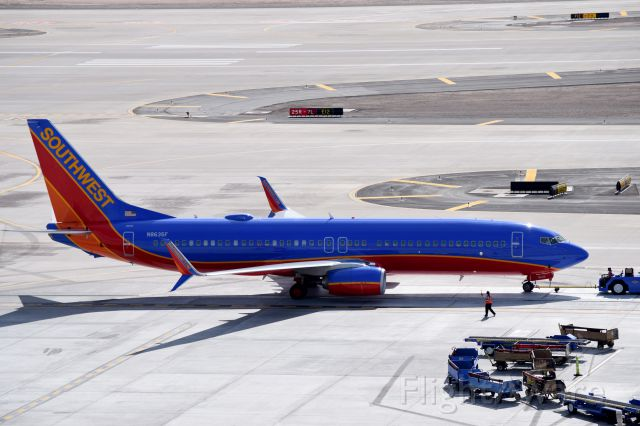 Boeing 737-800 (N8635F) - Backing up for departure at Phoenix Sky Harbor(1.19.2015)