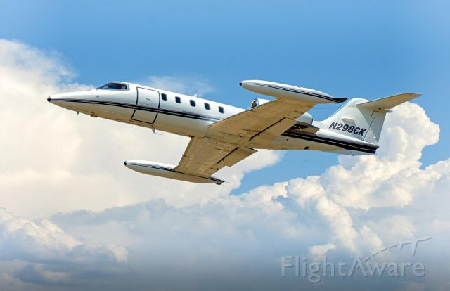 Learjet 35 (N298CK) - Leaving Ogden-Hinckley Airport off of rnwy21.