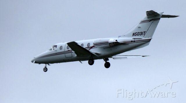 Beechcraft Beechjet (N5031T) - On final is this 2009 Hawker Beechcraft Beechjet 400A in the Spring of 2019.