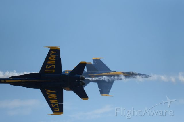 McDonnell Douglas FA-18 Hornet (BLUEANGEL) - United States Navy showing off again... And boy do they know how to strut!