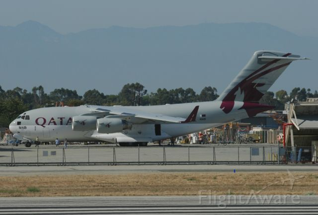 N209 — - The second C-17 for Qatar just out of the paint booth in full airline colors