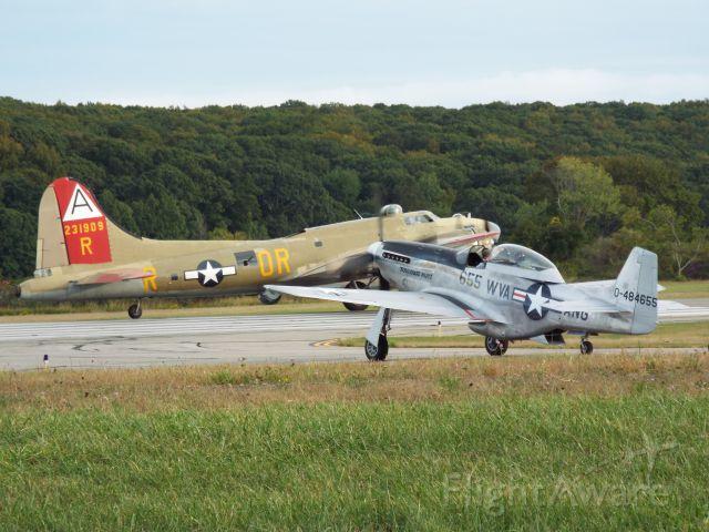 "North American P-51 Mustang (NL551CF) - North American P-51 Mustang (NL551CF) ""Toulouse Nuts"" and B-17 ""Nine O Nine"""