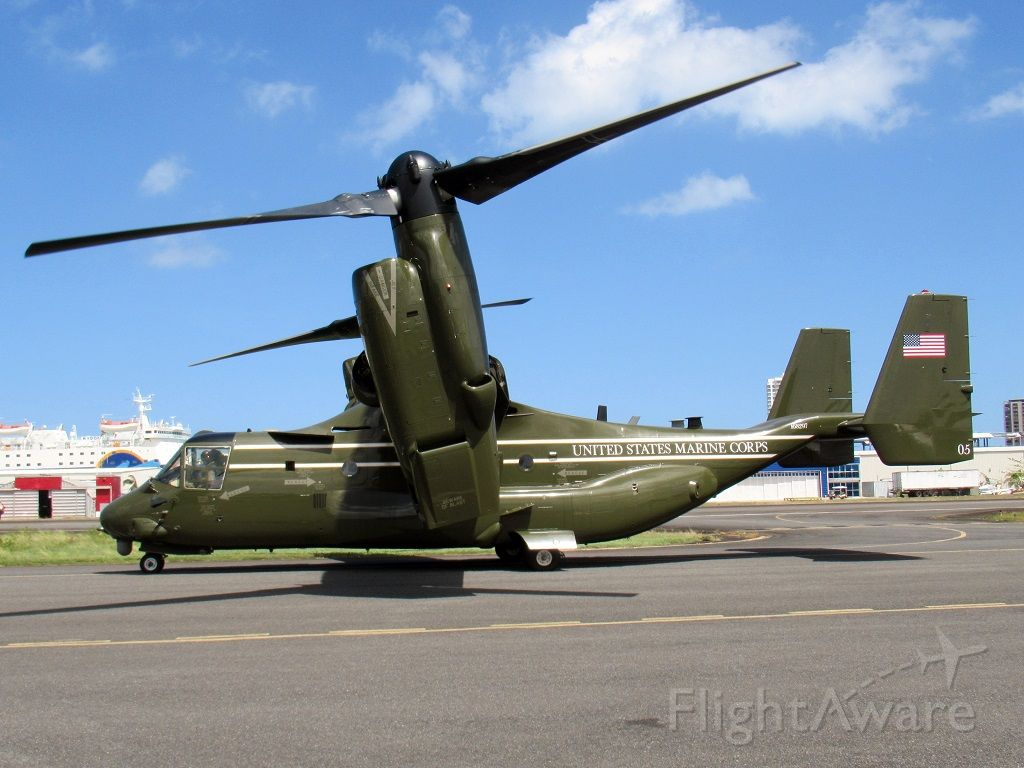 Bell V-22 Osprey (16-8297) - HMX-1 squadron (#5) during the presidential visit to the island after the hurricane to personally inspect the damages!
