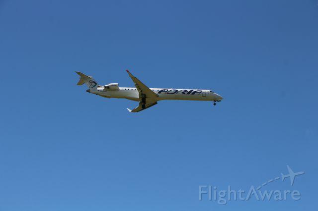 Canadair Regional Jet CRJ-900 (S5-AAU) - Before touch down RWY 30 Ljubljana airport, Slovenia