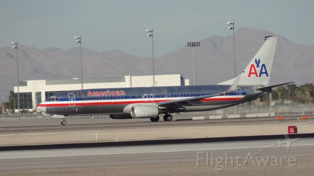 Boeing 737-800 (N950AN) - Taken on December 31, 2013. This Boeing 737-800 was taking off of runway 1 at Las Vegas McCarran Airport.