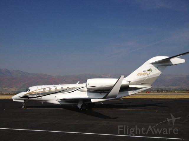 Cessna Citation X (N84PJ) - Papa Johns at Heber City, Utah.