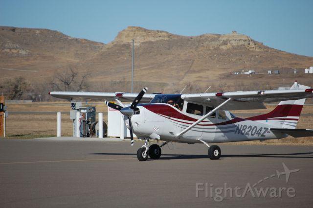 Cessna 205 (N8204Z) - On the ramp at Ekalaka