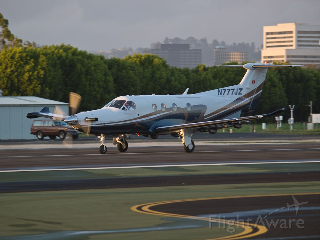 Pilatus PC-12 (N777JZ) - N777JZ departing from RWY 21