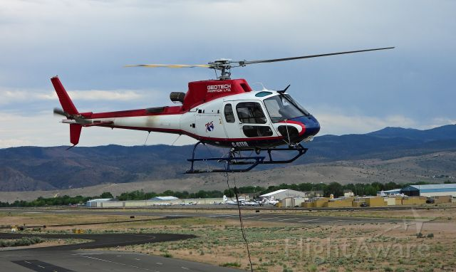 Cessna Skyhawk (C-GTEQ) - Landing at Carson City after a day's survey work