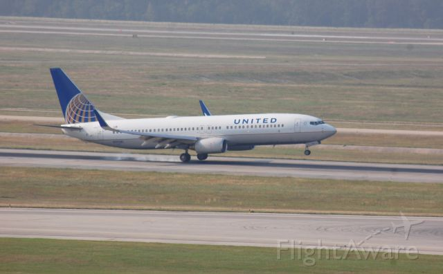 Boeing 737-800 (N37281) - United 737-800 touching down on 8R at IAH.