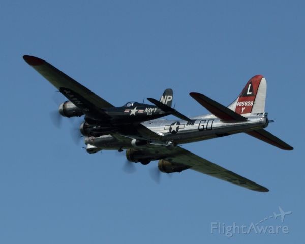 N3193G — - B-17 Yankee Lady flying in formation with an FU4-5 Corsair (N45NL) at the 2010 Cleveland National Airshow at Burke Lakefront Airport in Cleveland OH.