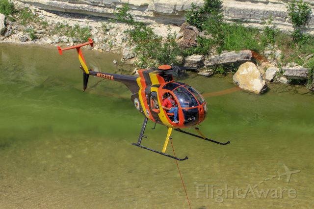 N333TA — - Magnum Copters Hughes 500D over a Central Texas river