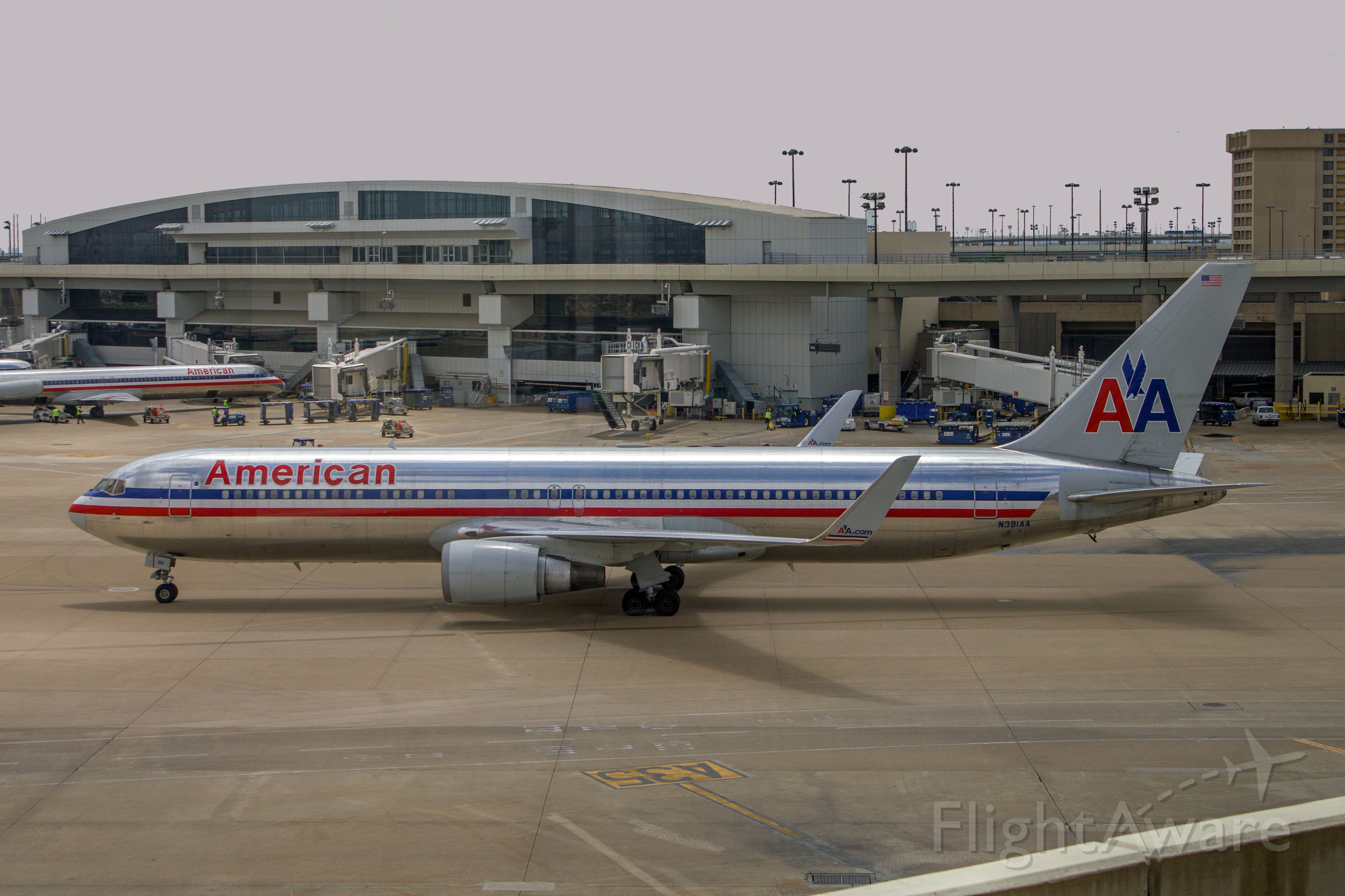 """BOEING 767-300 (N391AA) - American Airlines, N391AA, Boeing 767-323ER, msn 27451, Photo by John A. Miller, <a rel=""""nofollow"""" href=""""http://www.PhotoEnrichments.com"""">www.PhotoEnrichments.com</a>"""