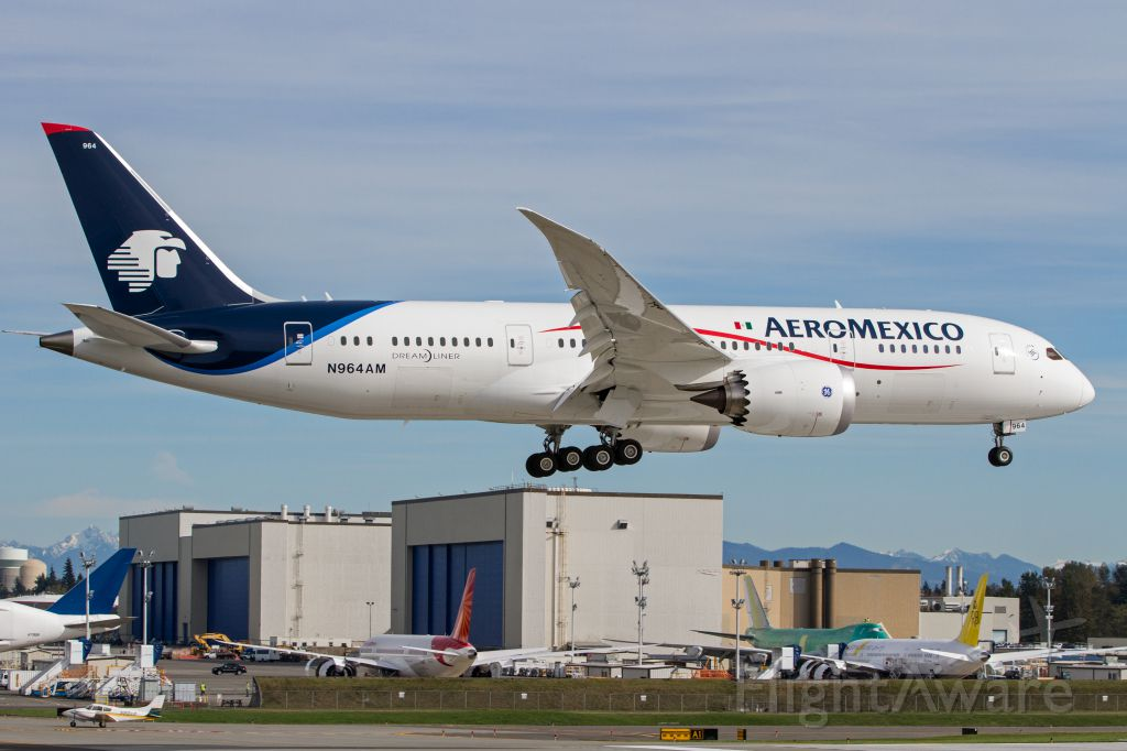 Boeing 787-8 (N964AM) - The first Boeing AP I caught on approach from the Future of Flight Center.