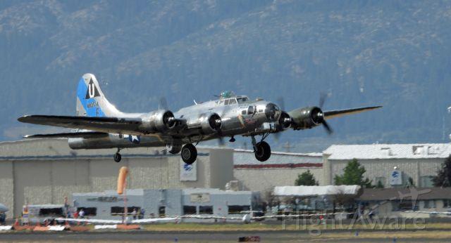 Boeing B-17 Flying Fortress (N9323Z) - Departing Minden-Tahoe airport