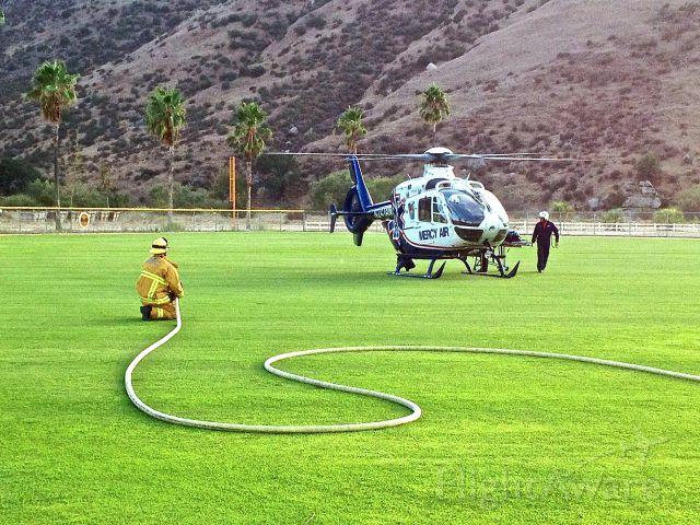 Eurocopter EC-635 (N241AM) - Mercy 5 arriving on scene for medivac